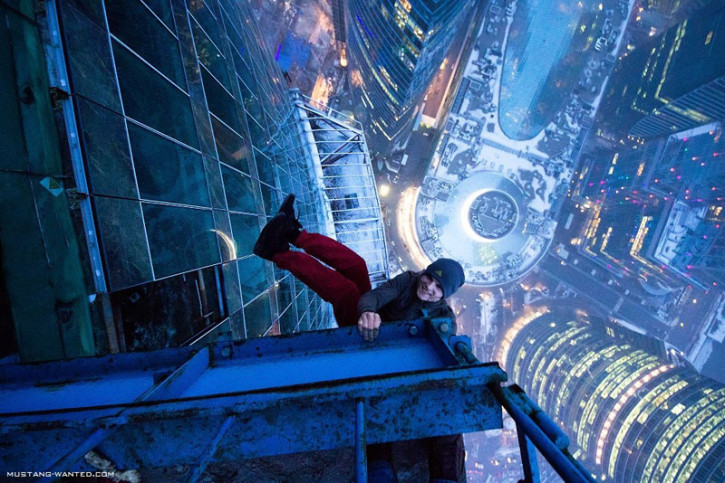 "Mustang Wanted beim ""Skyhanging"" (Foto: mustang-wanted.com)"